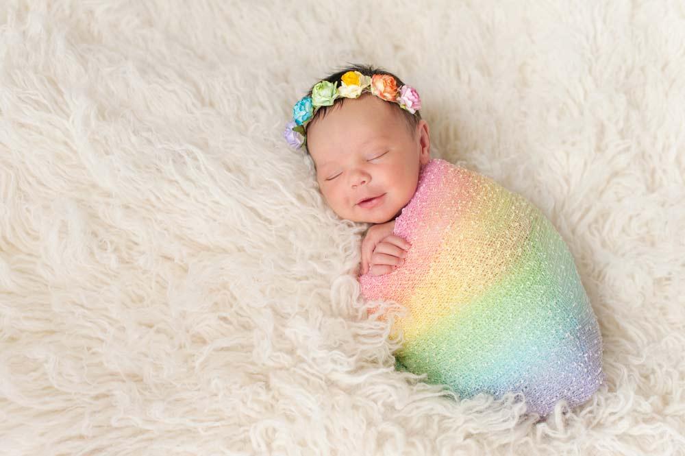 Bebê arco-íris cariótipo alterado