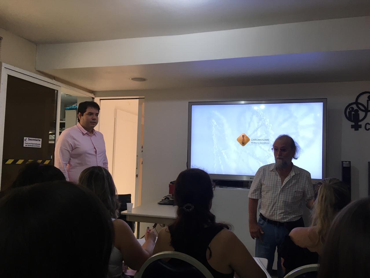 Palestra sobre genética e síndrome de Down no Curso de Especialização CEPEC-SP